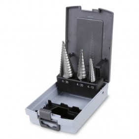 Set of milling cutters, conical Beta to step in a box of plastic 004250030