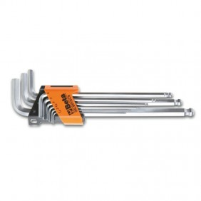 Set of 9 Hex Keys male Beta with rounded end 000961354