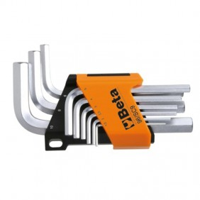 Set of 9 wrenches Hexagonal male Beta with support 000960374