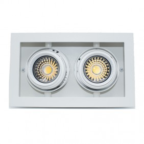 Spotlight recessed Shape Lighting Multigimbalo 2X11W 3000K beam 36°