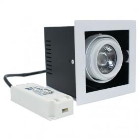Spotlight recessed Shape Lighting Multigimbalo 1X11W 3000K beam 36°