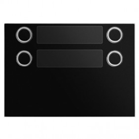 Bezel Urmet Alpha with 4 call Buttons on 2 rows Black 1168/24