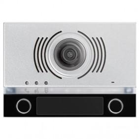 Frontalino Urmet Alpha per modulo audio/video con 2 tasti Nero 1168/142