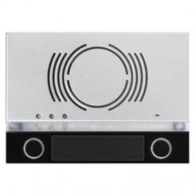 Frontalino Urmet Alpha per posto esterno audio con 2 tasti Nero 1168/132