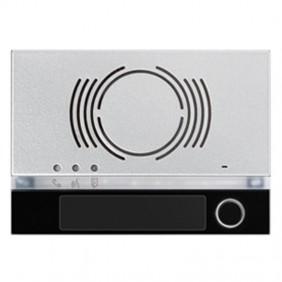 Frontalino Urmet Alpha per posto esterno audio con tasto Nero 1168/131