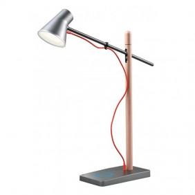 Lampada da tavolo a Led Redo FOX in finitura legno 01-1119