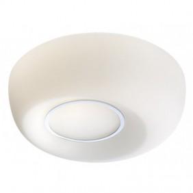 Plafoniera Redo ISLA in vetro soffiato opalino bianco 01-864