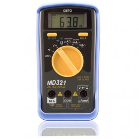 Multimetro digitale piccolo tascabile Asita MD321