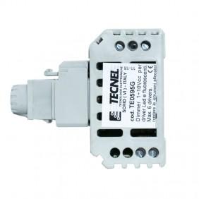 Dimmer Tecnel 1-10Vcc con interruttore 10A Keystone Grigia TE0595.G