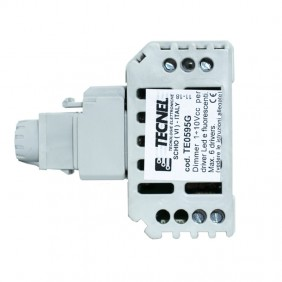 Dimmer Tecnel 1-10vdc switch 10A Keystone Gray TE0595.G