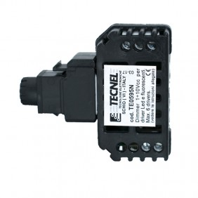 Dimmer Tecnel 1-10Vcc con interruttore 10A Keystone nera TE0595.B