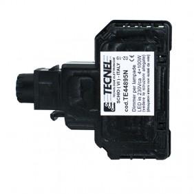 Dimmer Tecnel con deviatore per lampade a LED Keystone Nera TE44895N