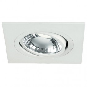 Spotlight Noble recessed adjustable white square hole 80mm 9088/BI