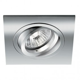 Spotlight Noble, recessed, adjustable square chrome hole 80mm 9088/CR