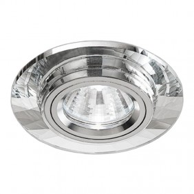Spotlight Noble fixed recessed crystal mirrored hole 60mm 9092