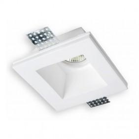 Faretto in gesso quadrato alto Ledco Bianco GE1020