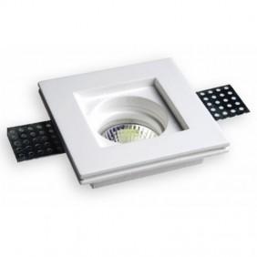 Downlight carré de plâtre faible Ledco Blanc GE1010