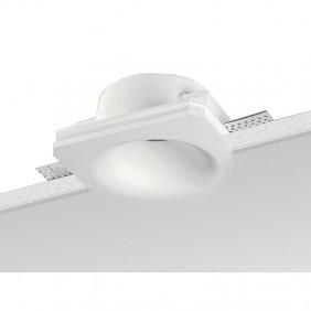 Spotlight construit en Plâtre Noble rond Blanc...