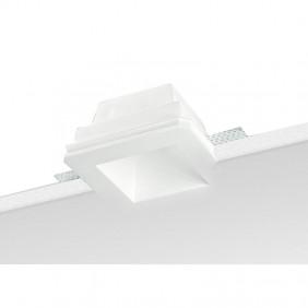 Faretto incasso in Gesso Nobile Quadrato Bianco 9096