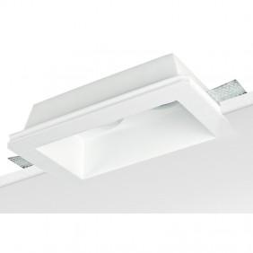 Faretto Nobile in gesso per soffitto e cartongesso per 2 lampade 9097