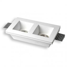 Spotlight double Plaster recessed square Century JESSY2-SQ2112