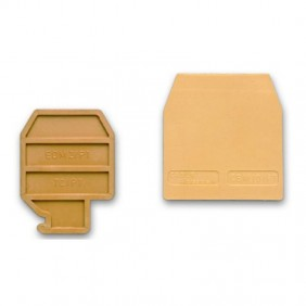 Plaque terminale Cabur à pince 10mmq Beige CB431