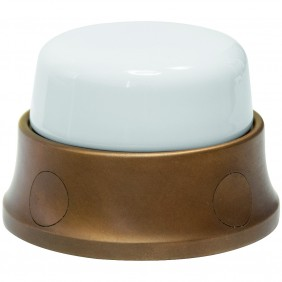 Junction box in porcelain and brass Gambarelli...