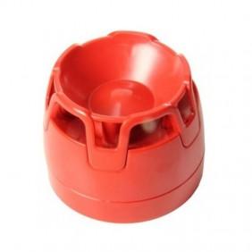 Sirena rossa convenzionale Notifier con base IP65 CWSO-RR-W1