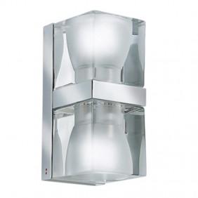 Apliques de Fabbian Cubo Transparente y chrome D28D0100