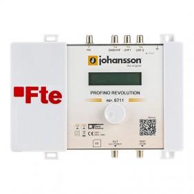 Centrale TV FTE larga banda a filtri programmabili 4 ingressi PROF6711