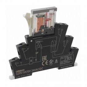 Relè Slim elettromeccanico Omron con zoccolo G2RVSR700ACDC24
