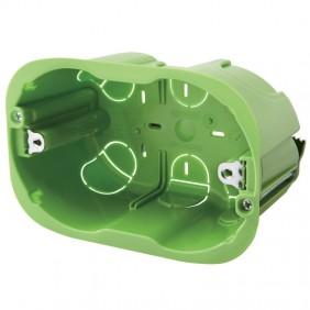 Rectangular box for light walls Gewiss 3 modules GW24403PM