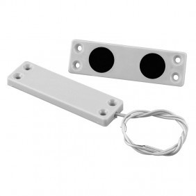 Magnetic contact, ultra-flat Bobcat White aluminum 1001