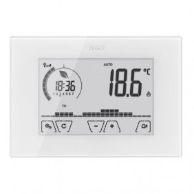 Wall-mount thermostat Vimar WiFi Touch screen White 02907