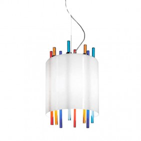The suspension Murrina Lollipop Murano glass...