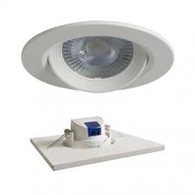 LED spotlight recessed round Duralamp 7W 3000K 40° White D307TWW