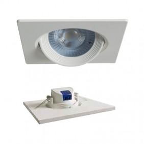 Faretto LED incasso quadrato Duralamp 7W 3000K 40° Bianco D307QWW