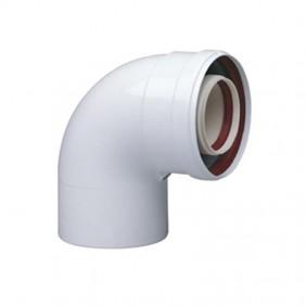 Curve coaxial 90° Baxi diameter 60/100 for flue KHG71405971