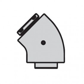 Curva coassiale 45 Gradi Beretta per caldaie a condensazione 20132012