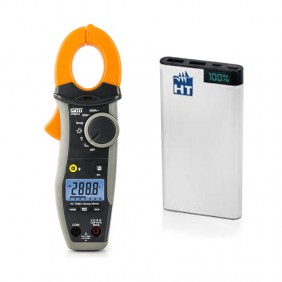 Kit Promo HT Clamp-on meter HT9014 + Powerbank 10AH HP09014P
