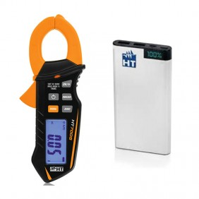 Kit Promo HT Clamp-on meter HT7005 + Powerbank 10AH HP07005P