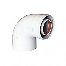 Curva coassiale 90° per scarico fumi scaldabagni Baxi 60/100 KHG71410151