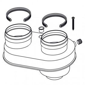 Splitter Air Flue for water heaters Rennai 80/80 FOT-HX060-A08