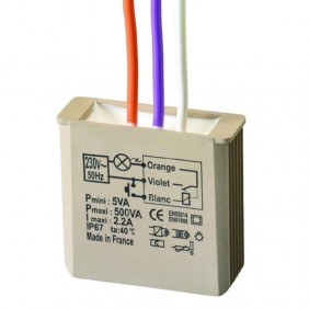 Dimmer Urmet Yokis MTV500E without neutral 5454052