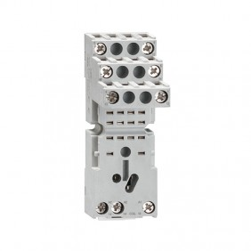 Socket for industrial relays Lovato with 2 exchanges for a series HR602C HR6XS21