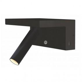 Lampada a parete Beneito Faure BEAM NEGRO 5W 2700K USB dimmerabile 3959