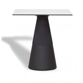 Table de Jardin ITHACA 60 polyéthylène Noir MOBITC60NXNW