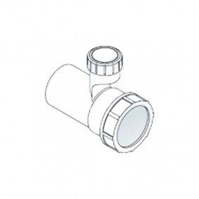 Extension sleeve 40 PP for output siphons OMP with aerator 2159.050.6