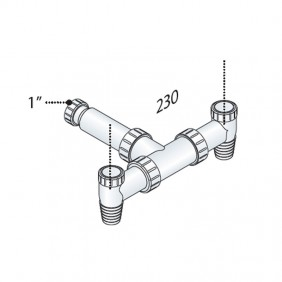 Valve for washing machine (outdoor OMP PP double version 2108.600.4
