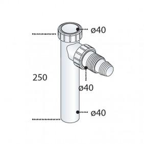 L'extension du cou de l'OMP et de la PP-OMP avec raccordement machine à laver 2103.322.6